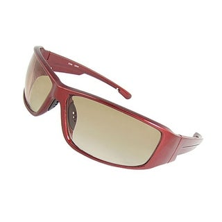 Nose Pad Burgundy Plastic Arm Unisex Outdoor Sunglasses