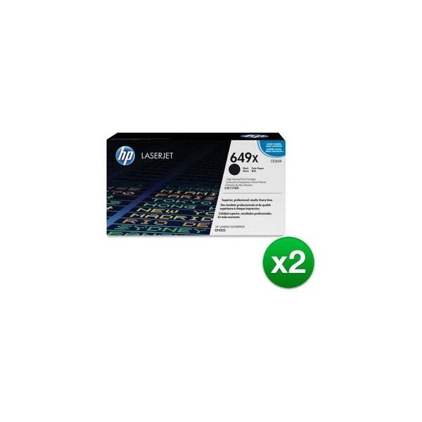 HP 649X High Yield Black Original LaserJet Toner Cartridge (CE260X)(2-Pack)