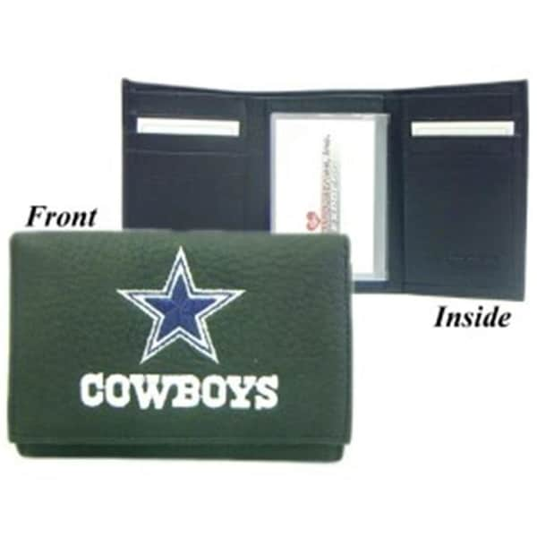 1af369cf6 Shop Dallas Cowboys Embroidered Leather Tri-Fold Wallet - Free Shipping On  Orders Over  45 - - 23739872