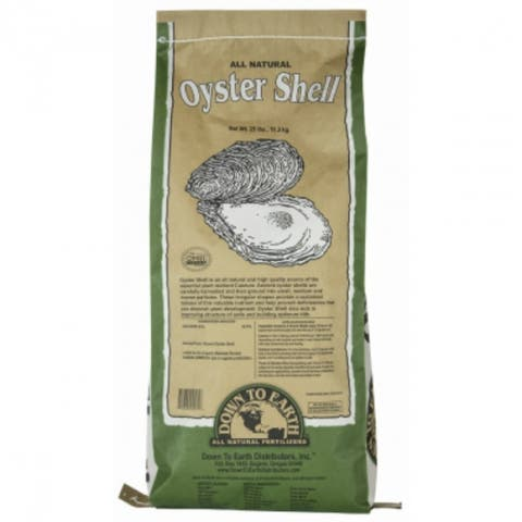 Down To Earth 04571 All Natural Oyster Shell, 25 Lbs