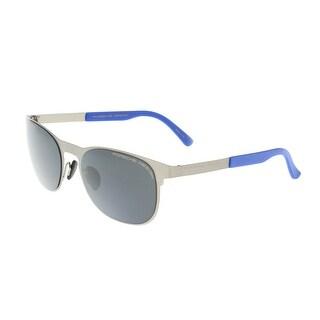 Porsche P8578-D Silver Round Sunglasses - 54-20-140
