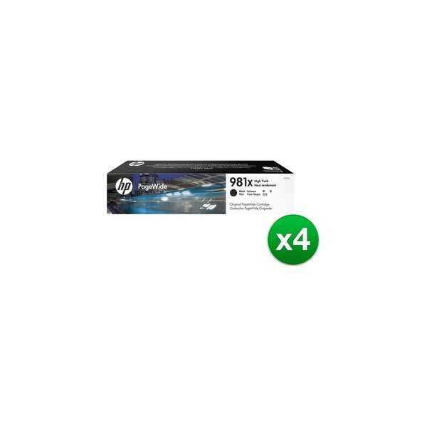 HP 981X Extra High Yield Black Original PageWide Cartridge (L0R12A)(4-Pack)
