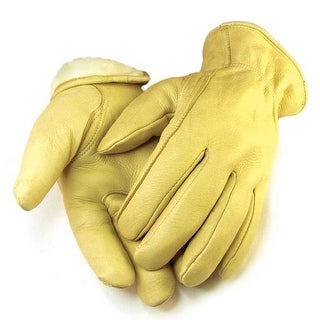 Northstar Mens Full Grain Tan Deerskin Gloves Lined 40 gram 3M Thinsulate 013T