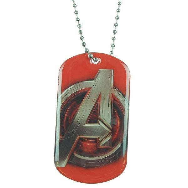 Avengers: Age Of Ultron Logo Dog Tag Necklace - multi