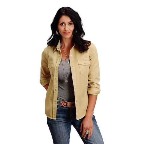 Stetson Western Shirt Womens L/S Denim Yellow