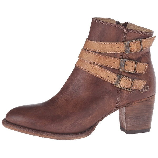 BED STU Womens Begin Leather Closed Toe Ankle Fashion Boots - 9.5