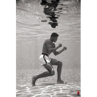 ''Muhammad Ali: Underwater'' by Anon African American Art Print (36 x 24 in.)