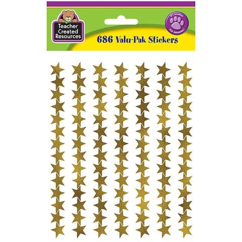 Gold Foil Star Stickers Valu Pak