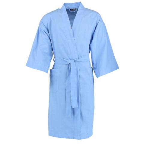 Leisureland Men's Broadcloth Robe