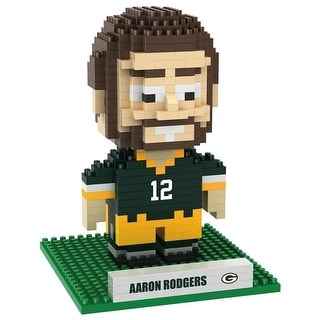 Green Bay Packers Rodgers A #12 3d NFL BRXLZ Bricks Puzzle Name Player