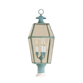 """Norwell Lighting 1068 Old Colony 3 Light 30"""" Tall Outdoor Post Light with Clear Glass Shade"""