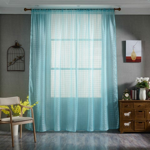 """78.7"""" x 39.4"""" Sheer Curtains Voile Tulle Window Scarf Curtain Panels"""