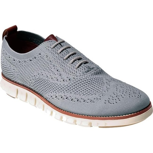 ea7ab82275 Shop Cole Haan Men's ZEROGRAND Stitchlite Oxford Ironstone/Ivory Knit - Free  Shipping Today - Overstock - 14567644