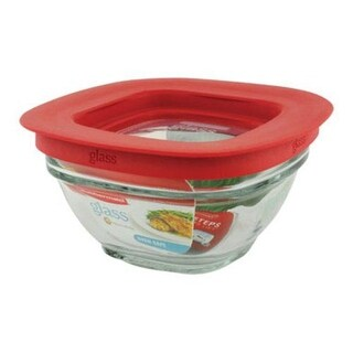 Rubbermaid 1787531 Glass Food Storage Container, 1 Cup, Square