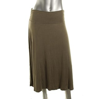 Bobeau Womens Heathered Below Knee A-Line Skirt