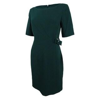 Jessica Howard Women's Petite Embellished Sheath Dress - FOREST