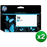 HP 70 130-ml Cyan DesignJet Ink Cartridge (C9452A) (2-Pack)