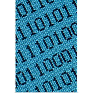 """""""Binary code on a computer monitor"""" Poster Print"""