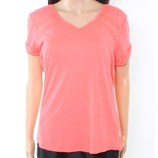 PJ Salvage NEW Pink Coral Women's Size Medium M Lace Sleepshirt Sleepwear