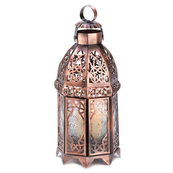 Interior Copper Moroccan Candle Lamp