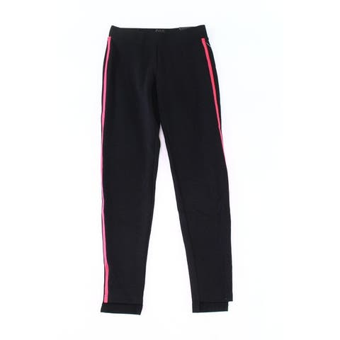 Dag Womens Pants Black Pink Size Small S Side Striped Pull On Ankle