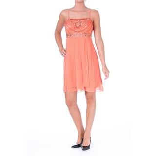 Sue Wong Womens Chiffon Embellished Cocktail Dress - 6