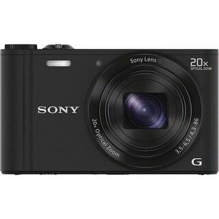 Sony Cyber Shot DSC-WX300 WiFi 18.2MP Black Digital Camera