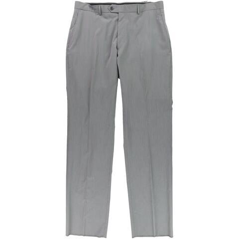 Jones New York Mens Pinstriped Dress Pants Slacks, Grey, 37.5W x 38L - 37.5W x 38L