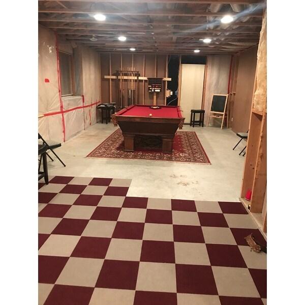 Shop Achim Nexus Tan Self Adhesive Carpet Floor Tile (12 Tiles ...