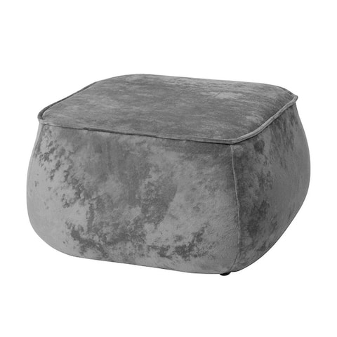 Furniture R Specialty Shape Pouf Fabric Ottoman