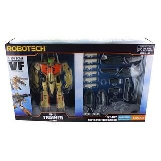 Robotech 1/100 Transformable Figure: VF-1D Trainer w/ Super Veritech Armor - multi