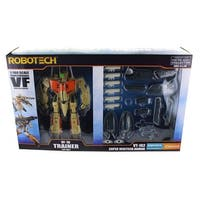 Robotech 1/100 Transformable Figure: VF-1D Trainer w/ Super Veritech Armor - multi