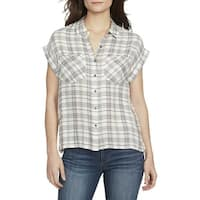 William Rast Pink Multi Womens Size XS Plaid Button Down Shirt