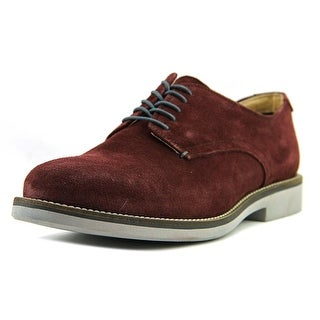 Aldo Paolino Men  Round Toe Suede Burgundy Oxford