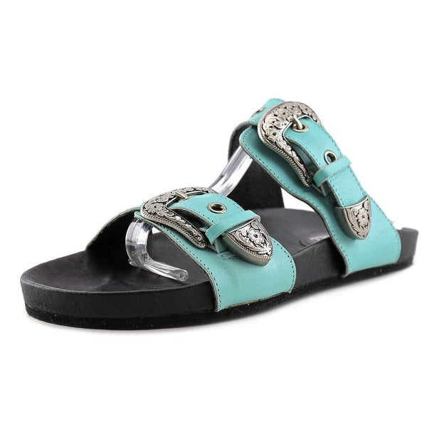 Eight Second Angel Sheniah Western Sandal Open Toe Leather Slides Sandal