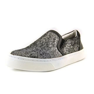 Luichiny Vay Kay Women Round Toe Canvas Silver Sneakers