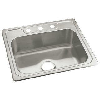 "Sterling 14711-3 Middleton 25"" Single Basin Drop In Stainless Steel Kitchen Sink with SilentShield?"