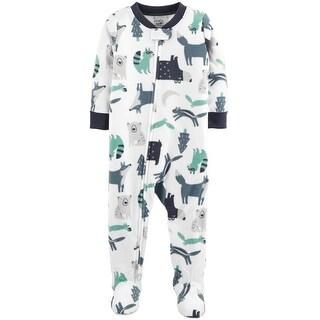 Carter's Baby Boys' 1-Piece Woodland Creatures Fleece Pajamas