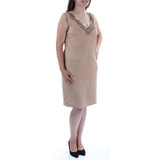 RALPH LAUREN $798 Womens 1578 Beige Knee Length Casual Dress 6 B+B