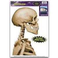 Pack of 12 Backseat Driver Skeleton Halloween Car Window Cling Decorations - Black