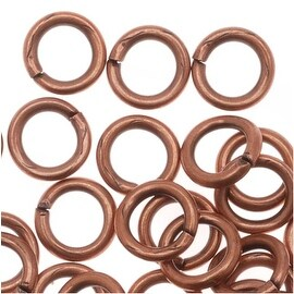 Genuine Antiqued Copper Open Jump Rings 5mm 19 Gauge (50)