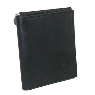 Rugged Rare Men's Leather Money Clip Wallet - Black - One Size