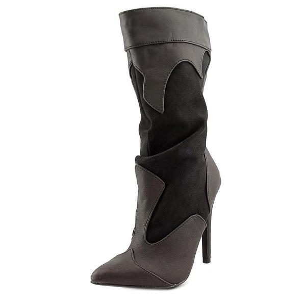Michael Antonio Makoto Women Pointed Toe Synthetic Mid Calf Boot