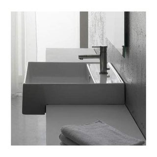 "Scarabeo by Nameeks 8031/D Teorema 17-7/8"" Ceramic Recessed Bathroom Sink with 1"
