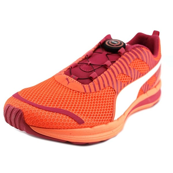 Puma Speed 300 S Disc Men Round Toe Synthetic Orange Sneakers