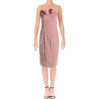 Cinq a Sept Womens Marceau Party Dress Velvet Strapless