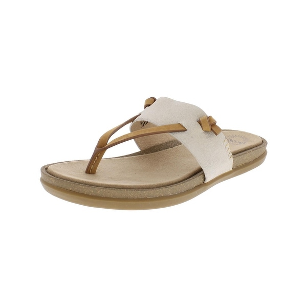 G.H. Bass & Co. Womens Shannon Thong Sandals Shimmer Leather
