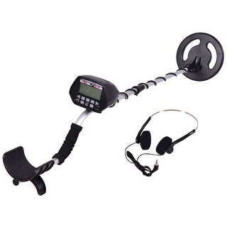 Costway Waterproof Metal Detector Underground Search Gold Digger Hunter 8'' w/ Headphone