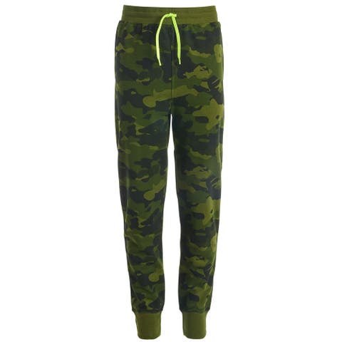 Ideology Boys Pants Green Size XL Fleece Camouflage Printed Jogger