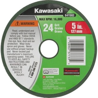 "Kawasaki? 5"" Sandpaper Disc 24 Grit For Angle Grinder/Drill - 841502"